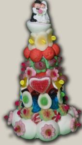 mini mariés en bonbons