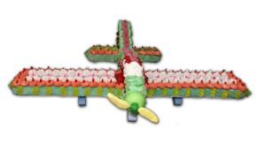 avion en bonbons 3D