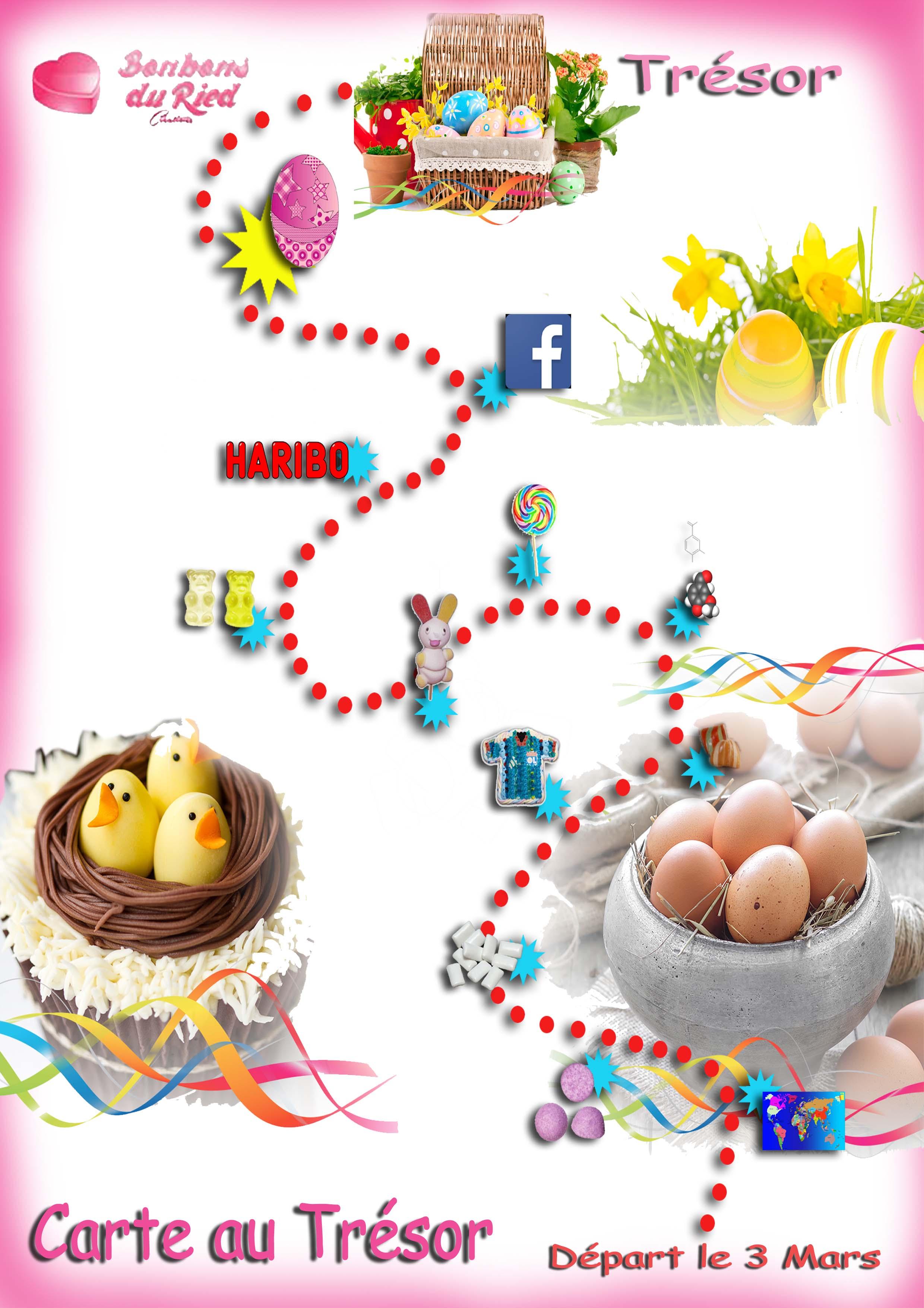 Jouez et gagnez un g teau de bonbons les bonbons du ried - Carte chasse au tresor ...