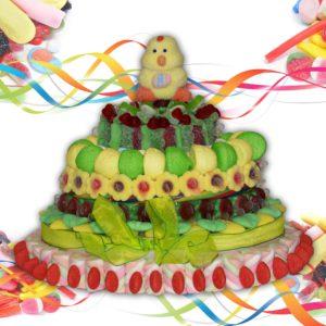 Jardin de Pâques en bonbons