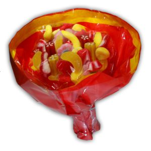 Bonbons rouges et jaunes