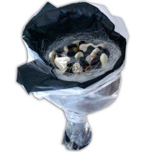 Bonbons noirs et blancs