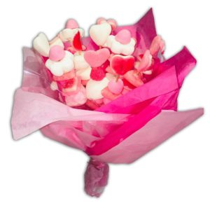 Bouquet de bonbons roses