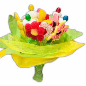 Fleurs en bonbons en bouquet